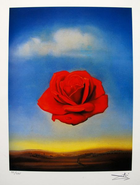 Salvador Dali MEDITATIVE ROSE Facsimile Signed & Numbered Giclee