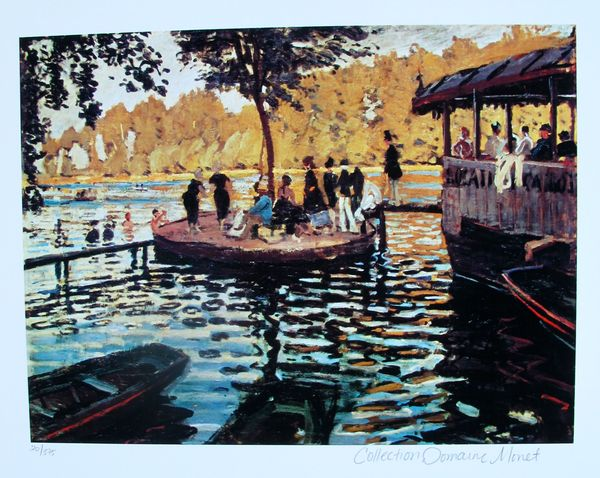 Claude Monet LA GRENOUVILLERE Estate Signed & Stamped Limited Edition Small Giclee