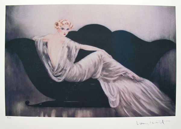 Louis Icart LOVESEAT Limited Edition Giclee