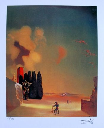 Salvador Dali ENIGMATIC ELEMENTS Facsimile Signed & Numbered Giclee