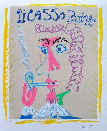 Pablo Picasso DESSINS THE PIPE SMOKER Limited Edition Facsimile Signed Giclee