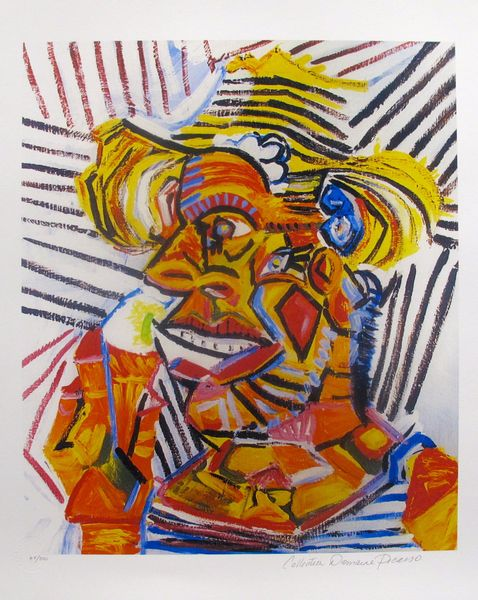 #16 MAN WITH STRAW HAT Pablo Picasso Estate Signed Giclee