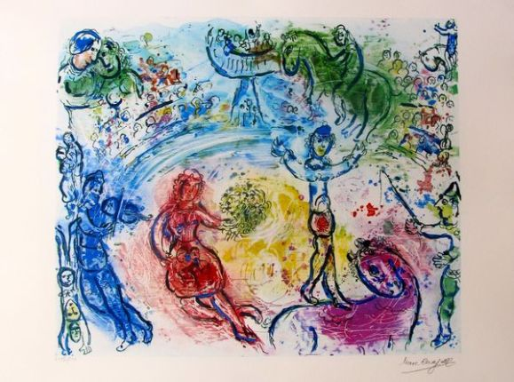 "MARC CHAGALL ""LE CIRQUE"" Signed Limited Edition Lithograph"