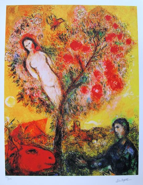 Marc Chagall TREE OF LIFE Limited Edition Facsimile Signed Small Giclee