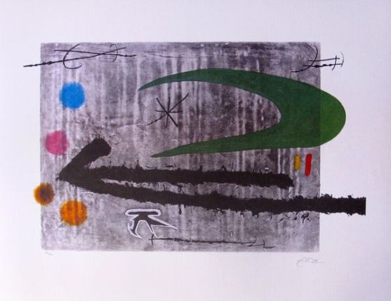 Joan Miro TOWARD THE LEFT Facsimile Signed Limited Edition Lithograph