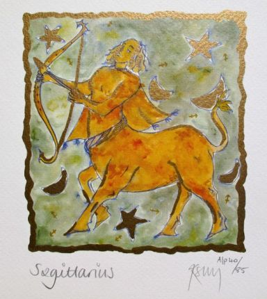 Kelly Jane SAGITTARIUS Hand Signed Limited Ed. Lithograph