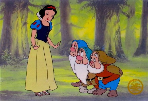 Disney SNOW WHITE Original Serigraph Cel Animation Art Sericel
