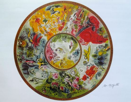 Marc Chagall PARIS OPERA CEILING Limited Edition Lithograph