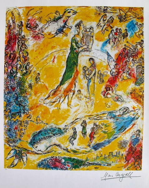 Marc Chagall SORCERER OF MUSIC Limited Edition Signed Lithograph