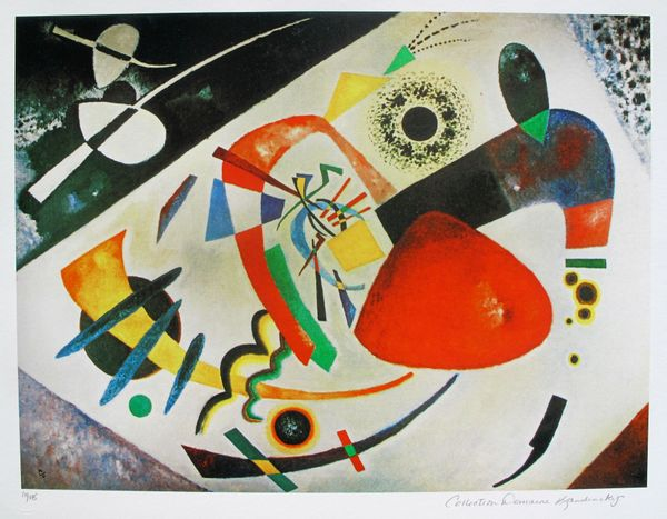 Wassily Kandinsky RED SPOT II Estate Signed Limited Edition Giclee