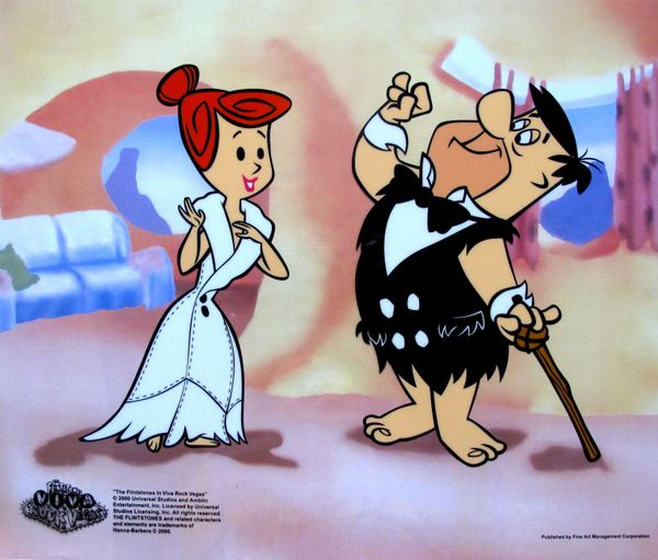 The Flintstones FRED AND WILMA'S DATE Animation Art Sericel