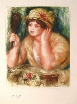 Pierre-Auguste Renoir LA FEMME AU MIRROIR Ambroise Vollard Estate Etching
