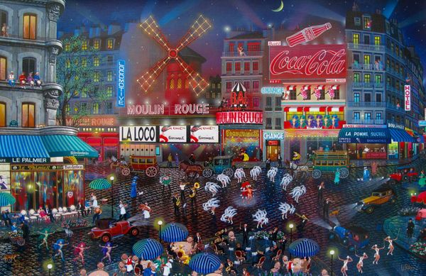 Alexander Chen MOULIN ROUGE Limited Ed. Hand Signed Serigraph