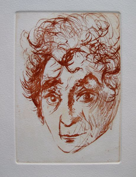 Salvador Dali PORTRAIT OF CHAGALL Restrike Etching