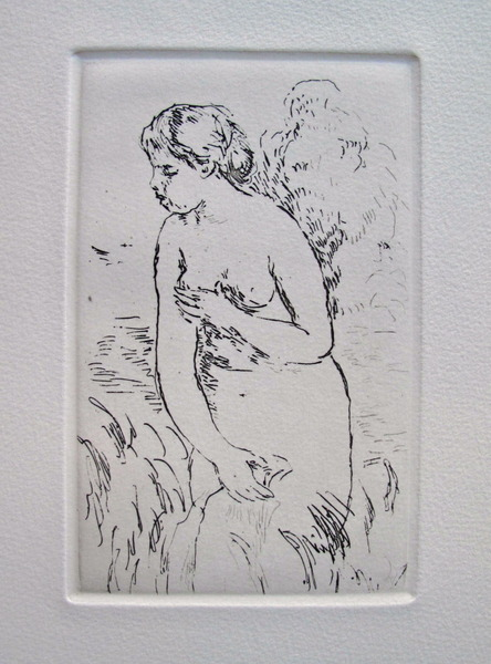 Pierre-Auguste Renoir STANDING BATHER Restrike Etching