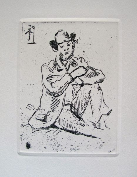 Paul Cezanne PORTRAIT OF PAINTER GUILLAUMIN Restrike Etching
