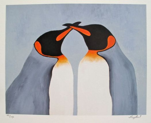 Nicola Read BEAK TO BEAK Hand Signed Limited Ed. Giclee