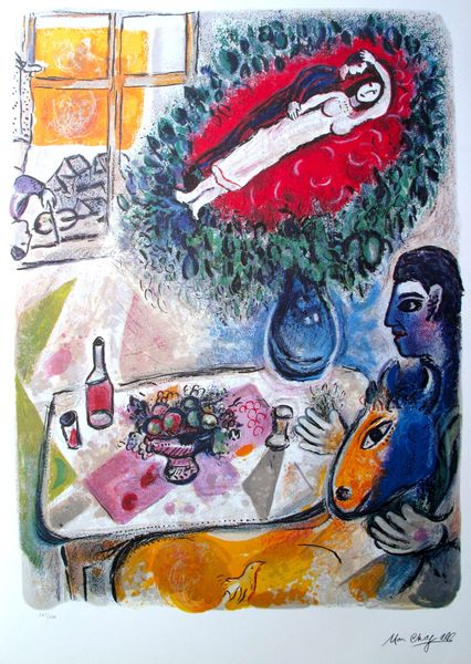 Marc Chagall REVERIE Signed Limited Edition Lithograph