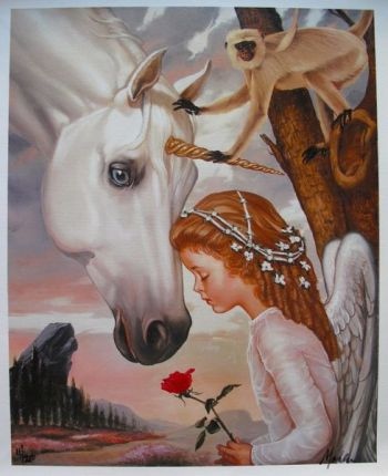 Ralph Wolfe Cowan CHILDHOOD FANTASIES Limited Ed. Giclee on Canvas