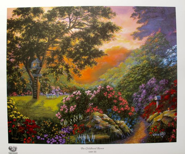 Karin Kis THE CHILDHOOD HAVEN Limited Ed. Hand Signed Lithograph