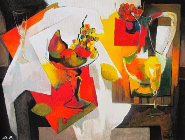 "PIERRE PIVET ""COUPE DE FRUITS"" Hand Signed Limited Edition Giclee on Canvas"