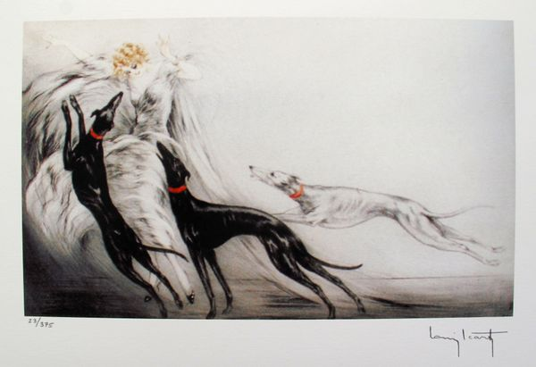 Louis Icart COURSING II Facsimile Signed Limited Edition Giclee Small