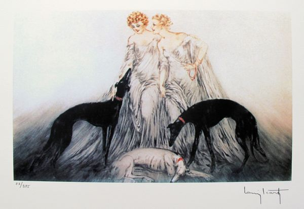 Louis Icart COURSING III Facsimile Signed Limited Edition Giclee Small