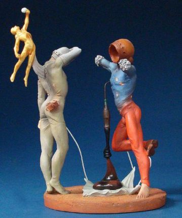 SALVADOR DALI POETRY OF AMERICA Cosmic Athletes Sculpture