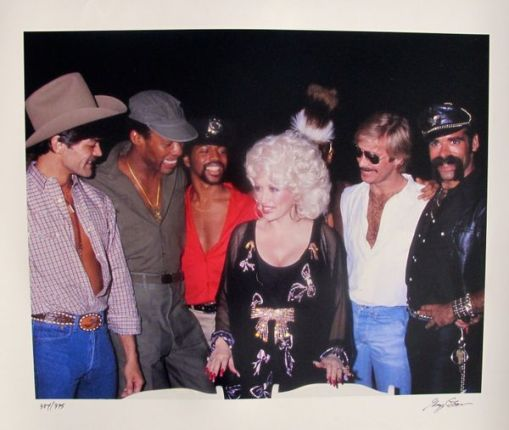 DOLLY PARTON & THE VILLAGE PEOPLE Hand Signed Ltd Ed. Photograph by GREGG COBARR