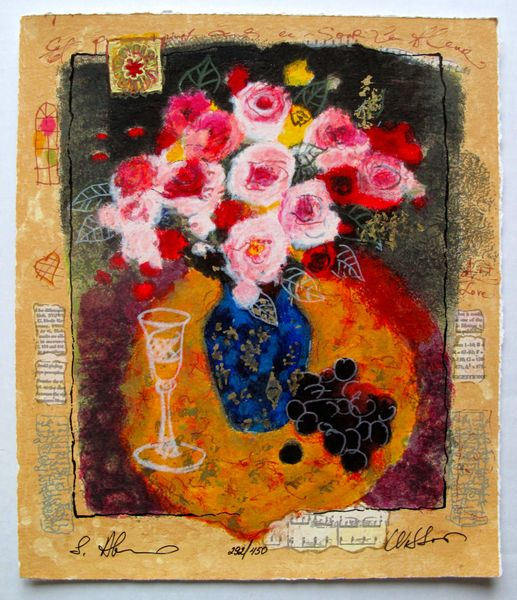Alexander Wissotzky EVENING BOUQUET Hand Signed Limited Ed. Serigraph