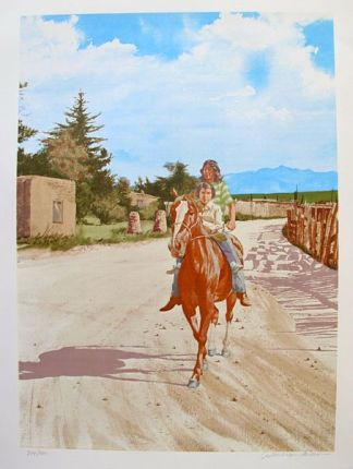 "Andrew Michael ""FATHER & SON"" Native Americans Limited Ed. Hand Signed Lithograph"