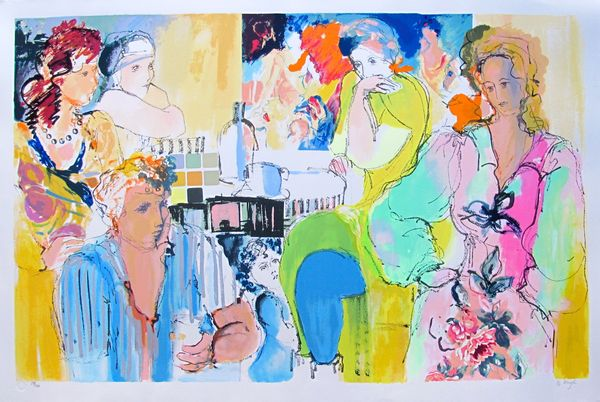 Batia Magal GETTING TOGETHER Limited Ed. Hand Signed Lithograph