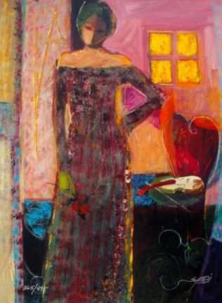Sabzi INTERIOR I Hand Signed Limited Ed. Giclee on Paper