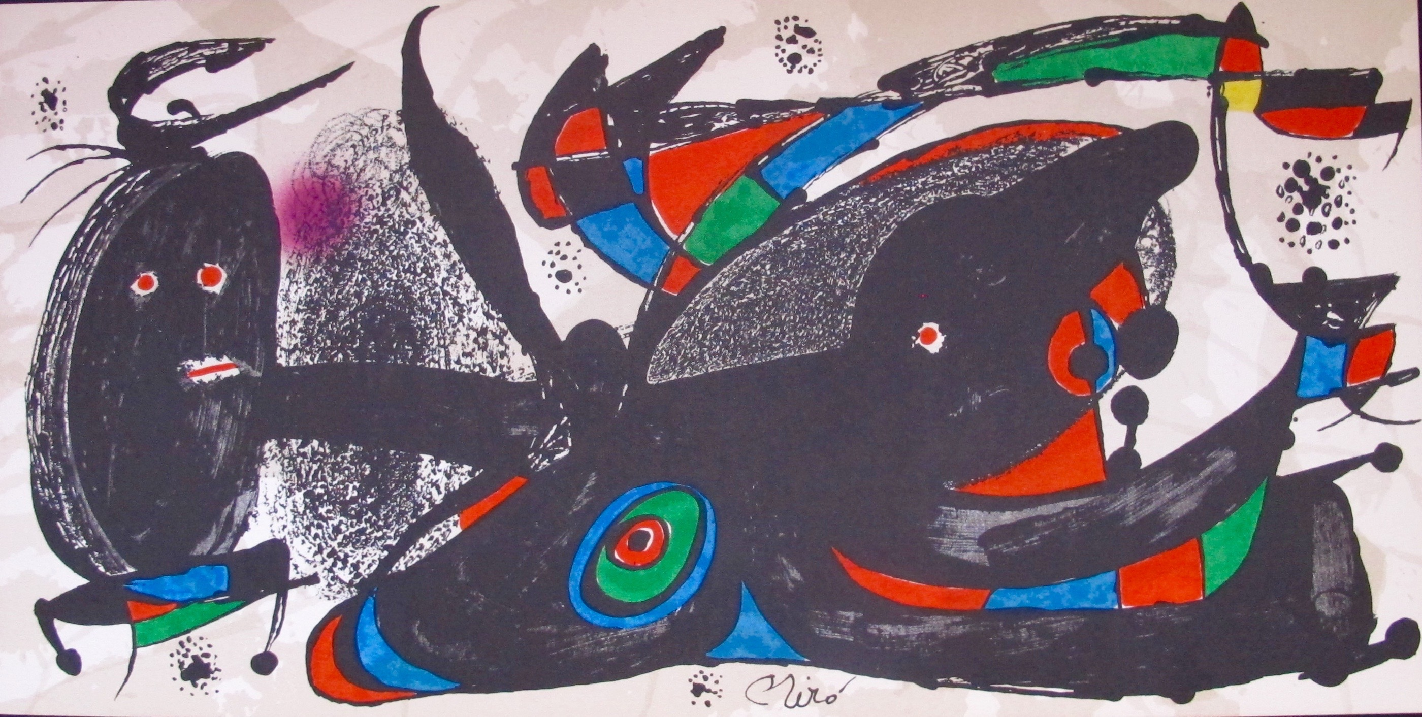 "JOAN MIRO /""EQUINOX/"" Signed Limited Edition Large Lithograph Art"