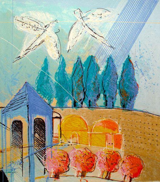 Calman Shemi JERUSALEM 3 Hand Signed Limited Ed. Serigraph