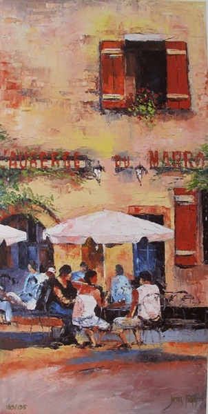 James Pratt L'AUBERGE DU MARRO Hand Signed Limited Ed. Giclee on Canvas