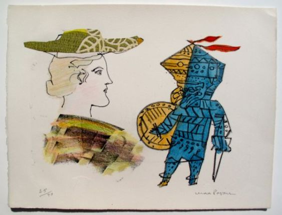 Max Papart A SCOTTISH GIRL 2 Limited Ed. Hand Signed Etching