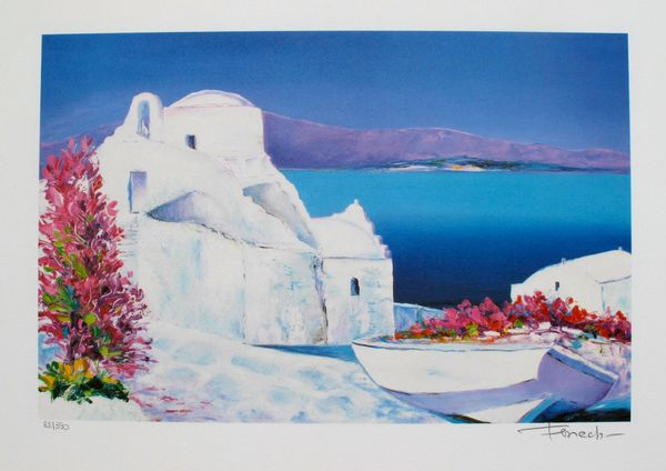 Fenech LA GRECE Limited Ed. Hand Signed Lithograph