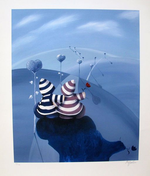 "MIKE JACKSON ""LOVERS LANE"" Hand Signed Limited Edition Giclee"