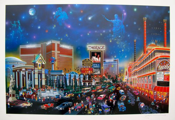 """Alexander Chen """"LUCK BE A LADY"""" LAS VEGAS Limited Ed. Hand Signed Serigraph"""