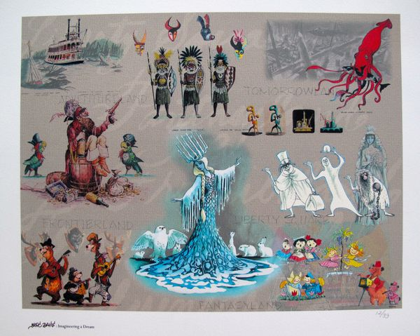 Disney MARC DAVIS DISNEYLAND RIDES Limited Edition Giclee Animation Concept Art