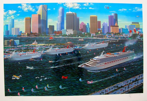 Alexander Chen MIAMI CRUISING Limited Ed. Hand Signed Serigraph