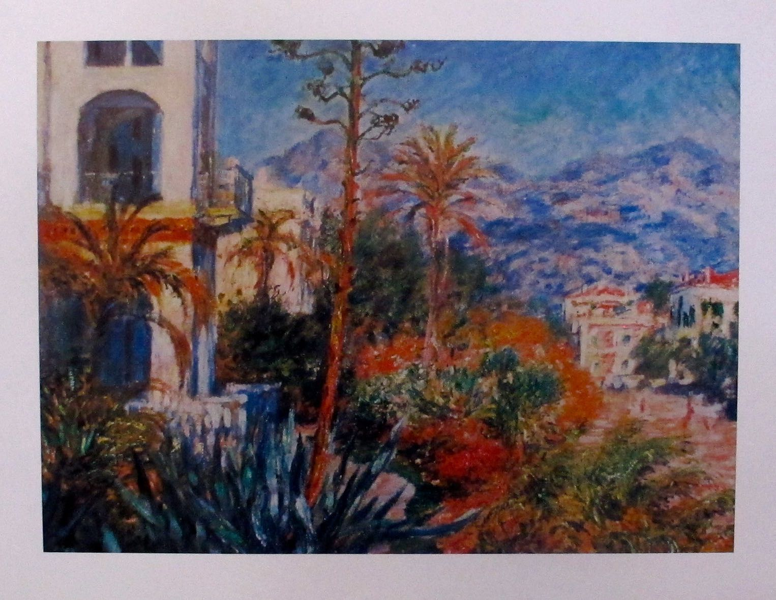 Claude Monet VILLAS IN BORDIGHERA Plate Signed Lithograph