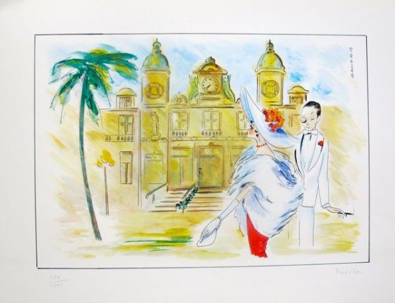 "PIROSKA KEVESI ""MONTE CARLO"" Hand Signed Lithograph from the CASINO Series"