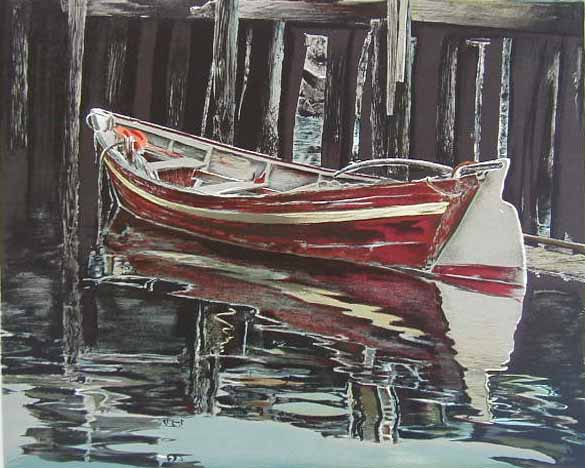 Mark Stevens REFLECTIONS Hand Signed Lithograph