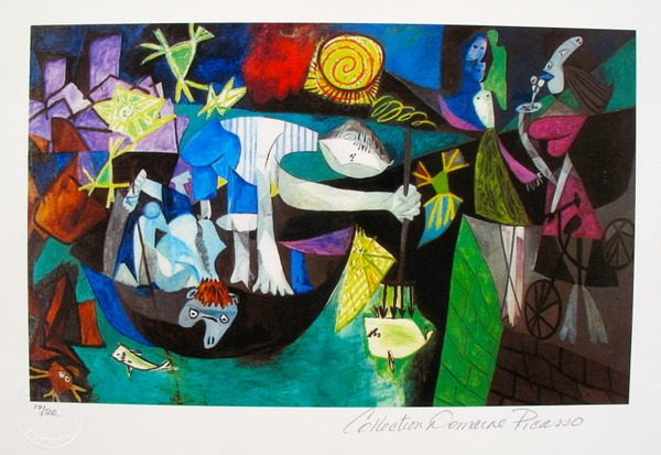 Pablo Picasso NIGHT FISHING AT ANTIBES Estate Signed Limited Edition Small Giclee
