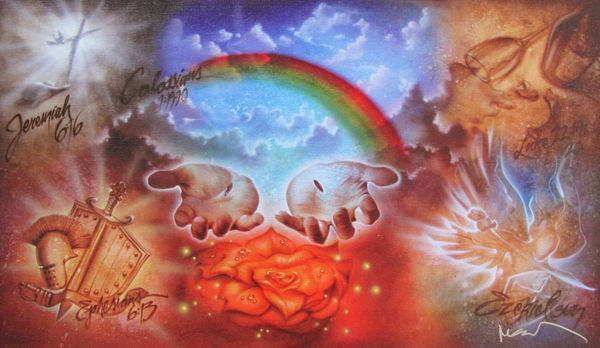 Noah THE PROMISE Hand Signed Limited Edition Giclee on Canvas