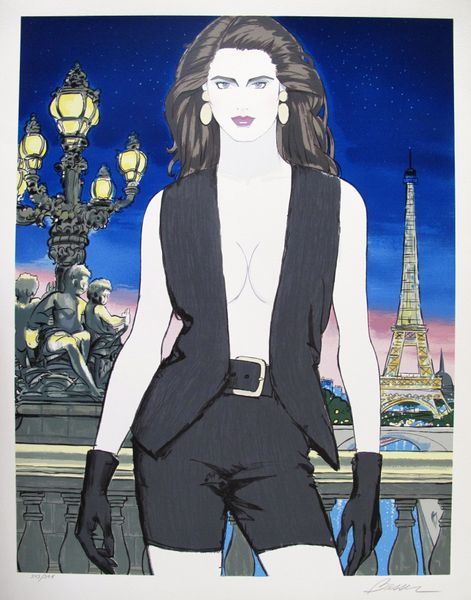 Roy Besser PARIS Hand Signed Limited Ed. Serigraph