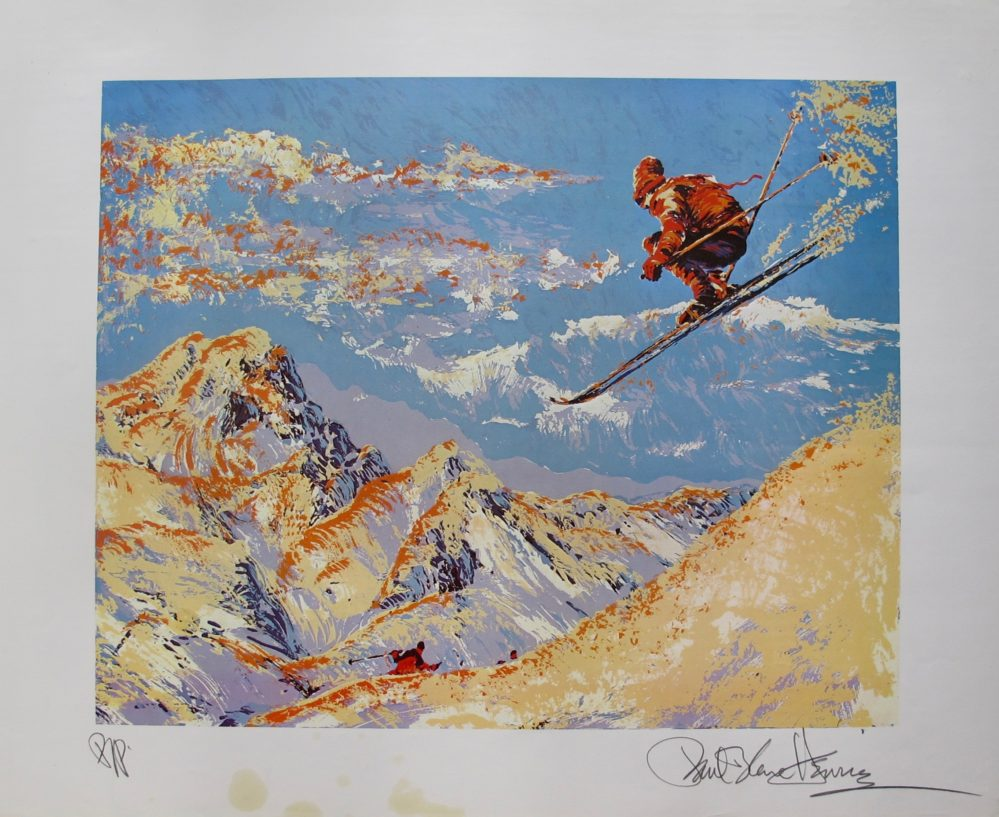 paul blaine henrie sunset skier