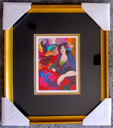 "Patricia Govezensky ""PEACEFUL THOUGHTS"" Framed Hand Signed Limited Edition Serigraph"
